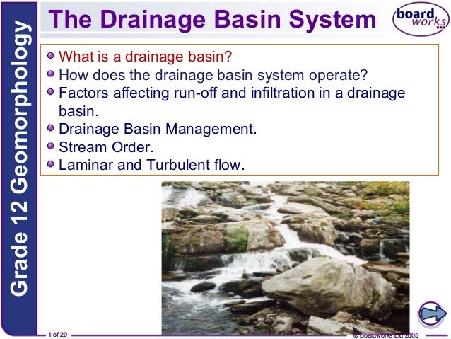 Grade 12 Geomorphology  The Drainage Basin System What is a drainage basin? How does the drainage basin system operate? Fa...