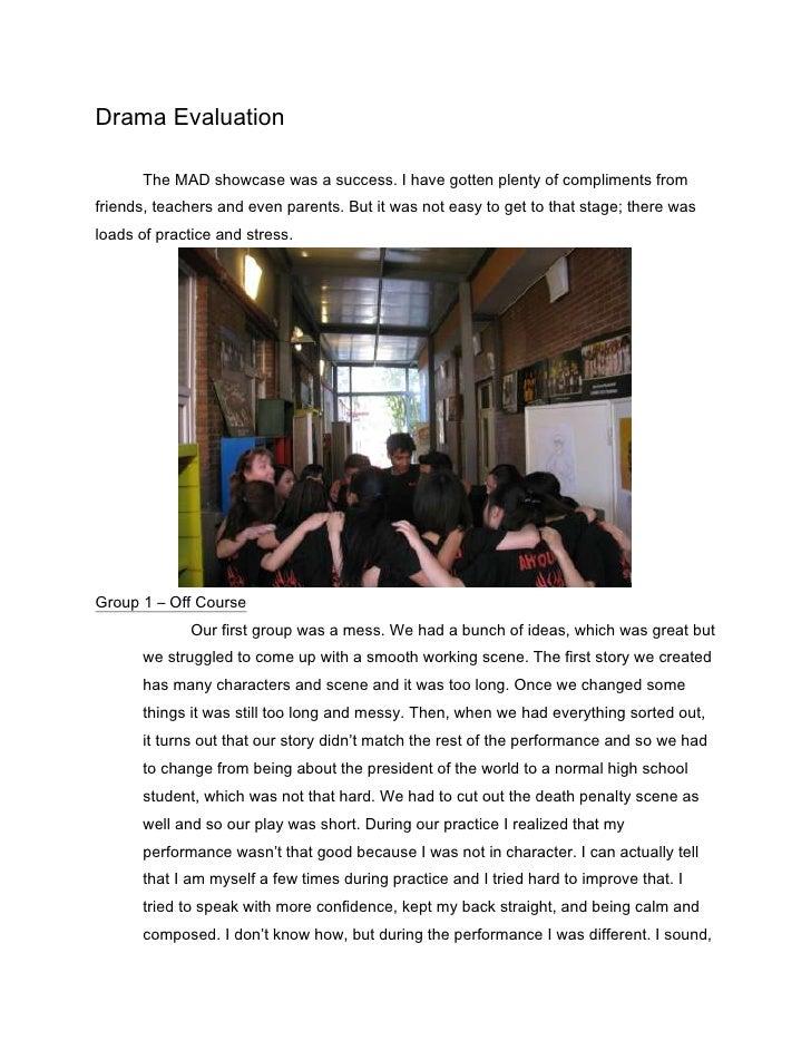 Drama Evaluation