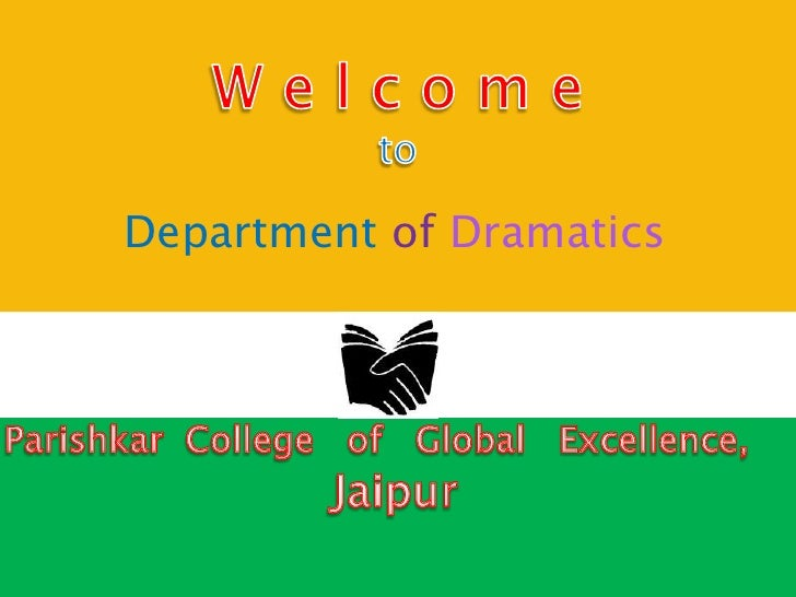 Department of Dramatics