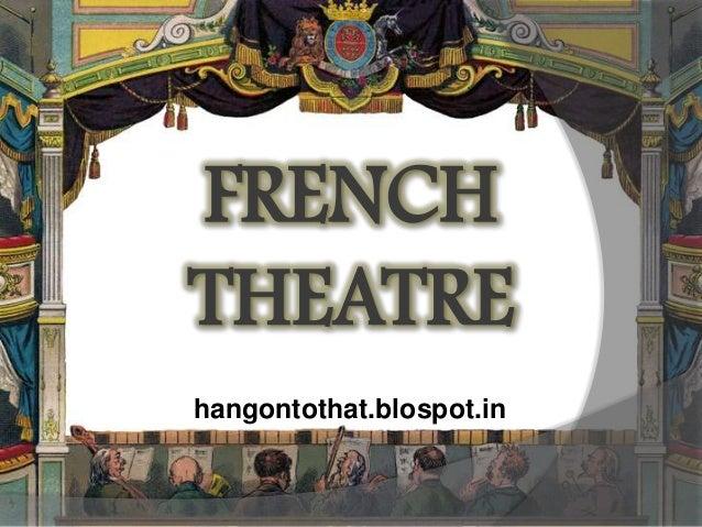 French Theatre Presentation - Dramatics Class