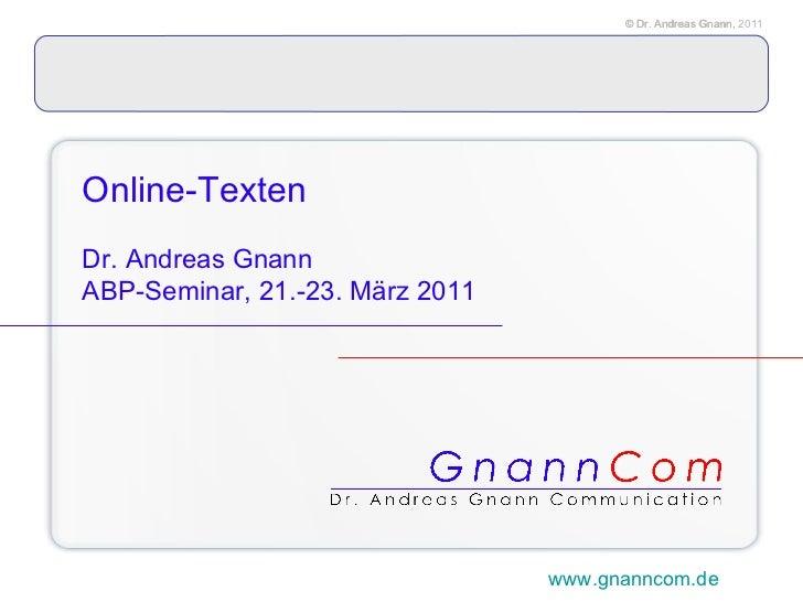 Online-Texten für PR_ABP-Fobi 2010-03_Dr. Andreas Gnann