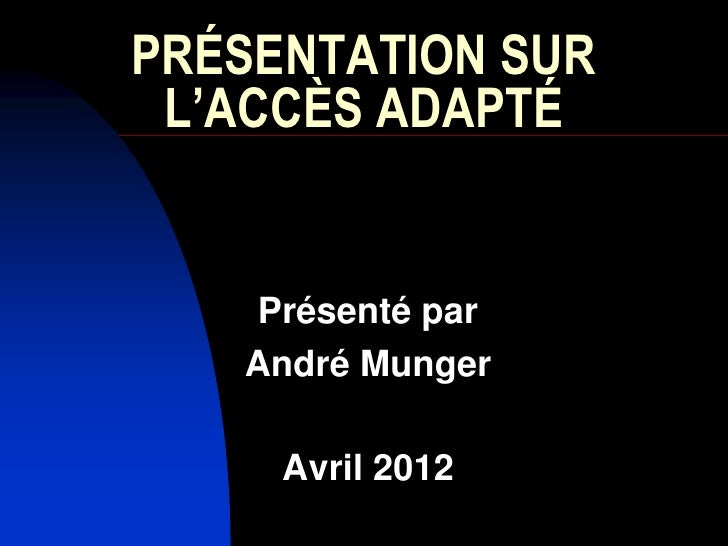 Dr andré munger_advanced_access_19_avril_2012