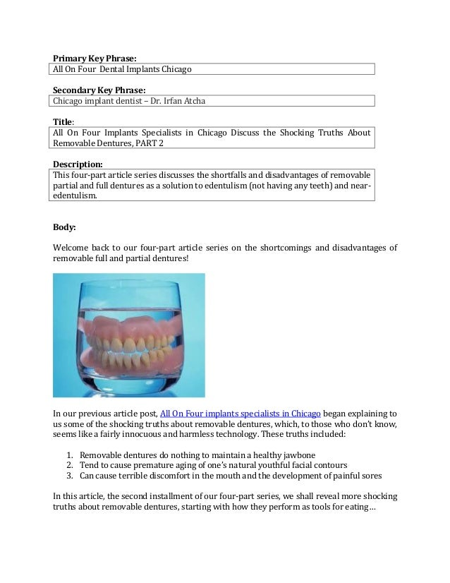 Primary Key Phrase:All On Four Dental Implants ChicagoSecondary Key Phrase:Chicago implant dentist – Dr. Irfan AtchaTitle:...