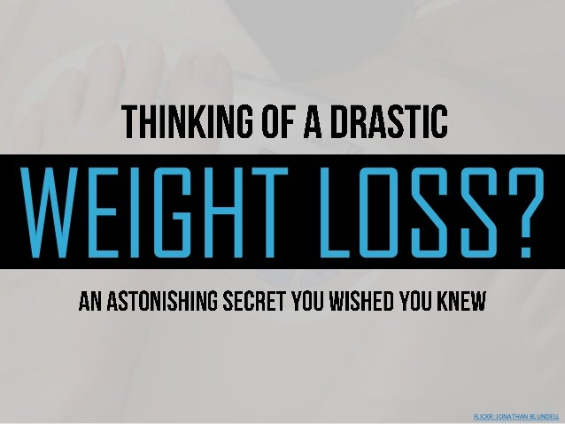 WEIGHT LOSS?FLICKR: JONATHAN BLUNDELL