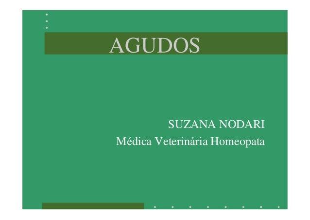 AGUDOS SUZANA NODARI Médica Veterinária Homeopata