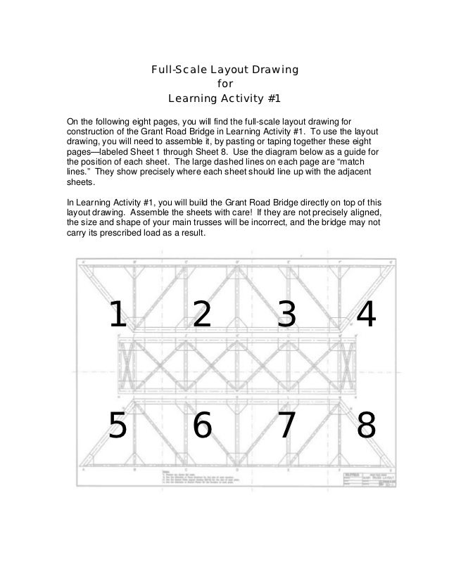 Full-Scale Layout Drawing                                  for                         Learning Activity #1On the followin...