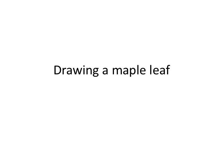 Drawing a maple leaf