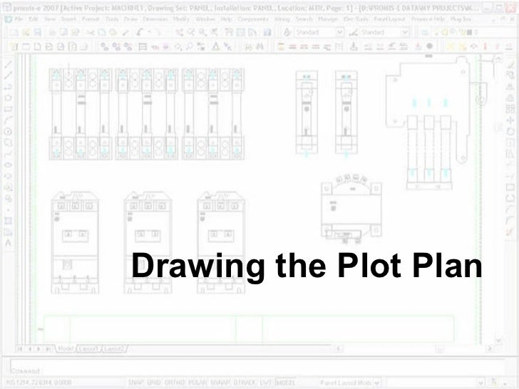Drawing the plot plan for Plot plan drawing