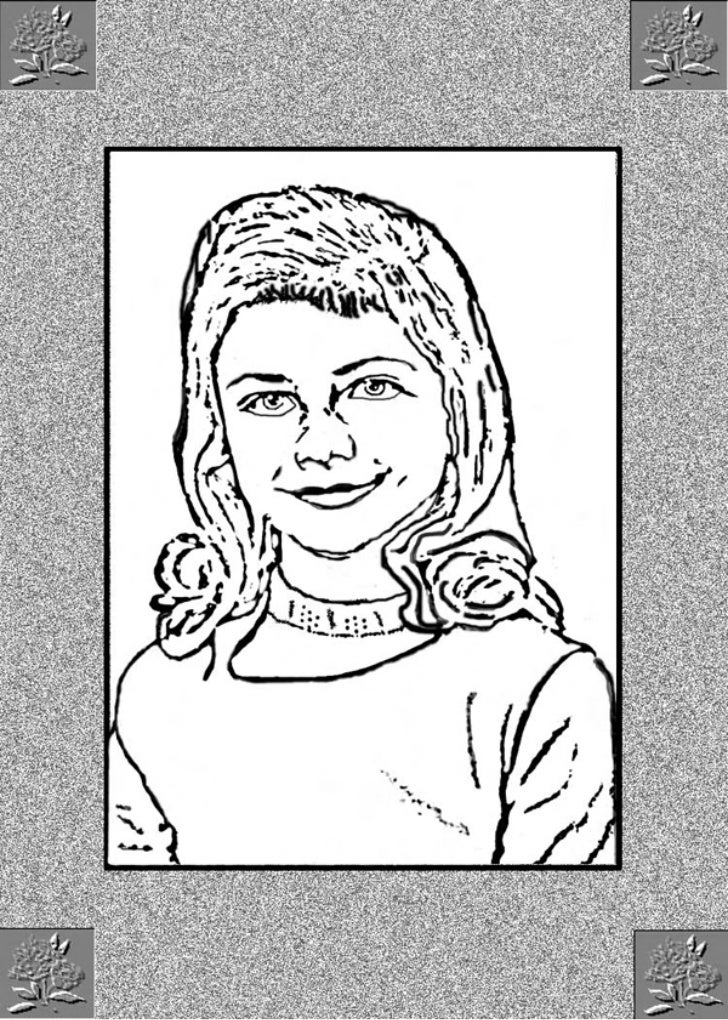 Photoshop Line Drawing from photo