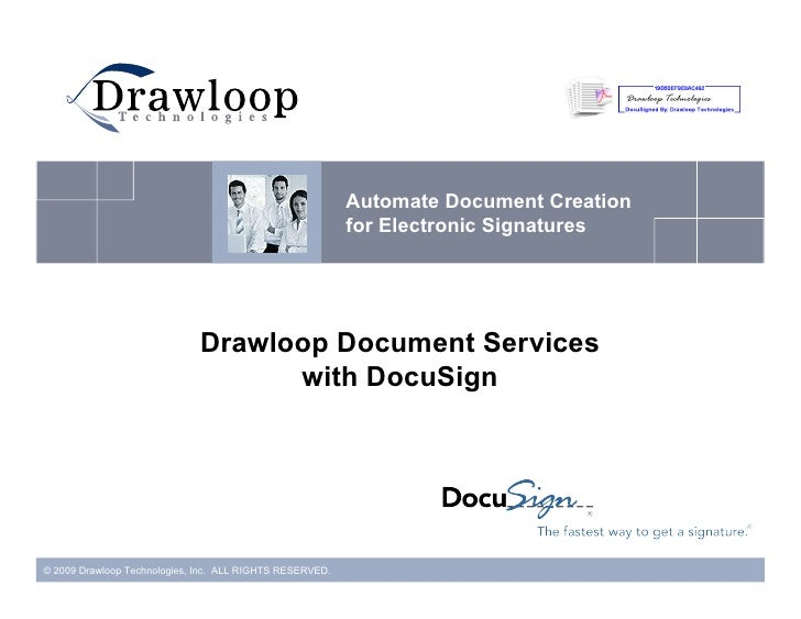 Drawloop With DocuSign Connect For Salesforce