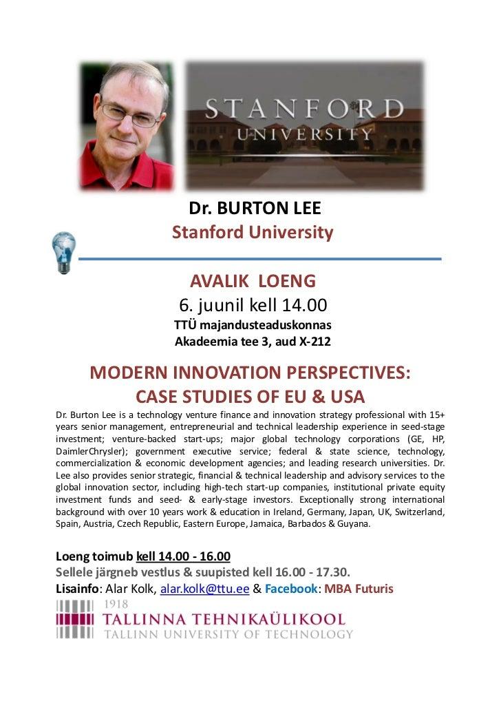 Modern Innovation Perspectives: EU & US