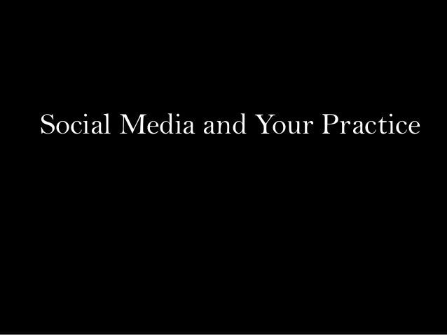 Dr Chris Stout Social Media and Your Practice
