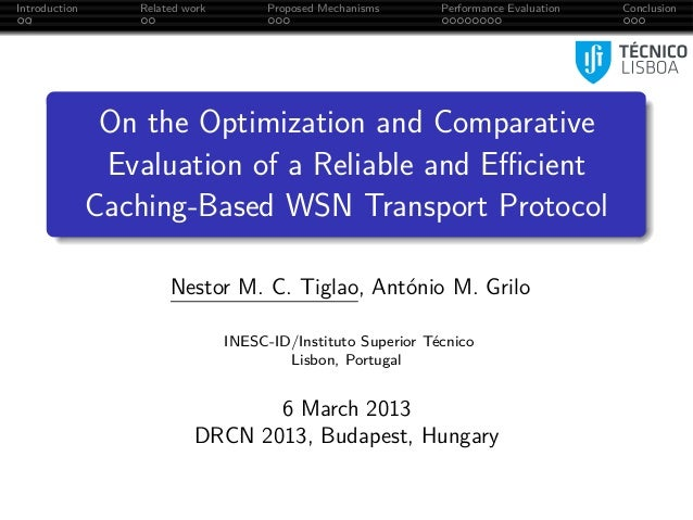 Introduction      Related work        Proposed Mechanisms      Performance Evaluation   Conclusion                On the O...