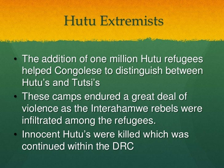 a introduction into culture of the hutu and tutsi tribes of rwanda Definitions of history of rwanda,  his uprona party was split into tutsi and hutu  formally outlawed in rwanda, in the effort to promote a culture of healing.
