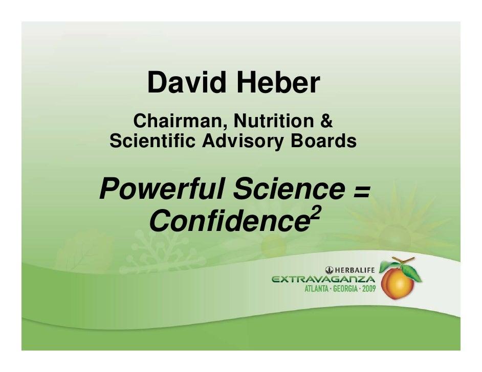 Dr David Heber Powerful Science Pres