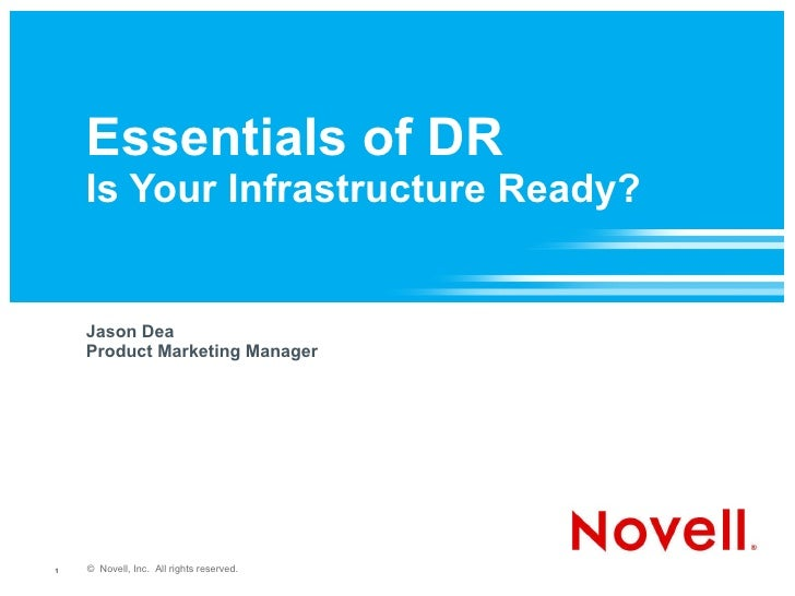 New Essentials of Disaster Recovery Planning