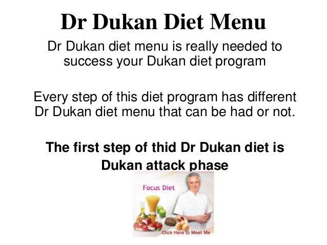 Dr Dukan Diet Menu