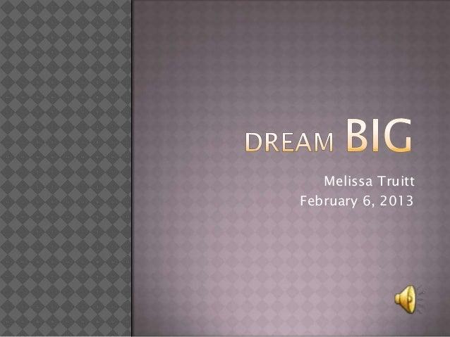 Melissa TruittFebruary 6, 2013
