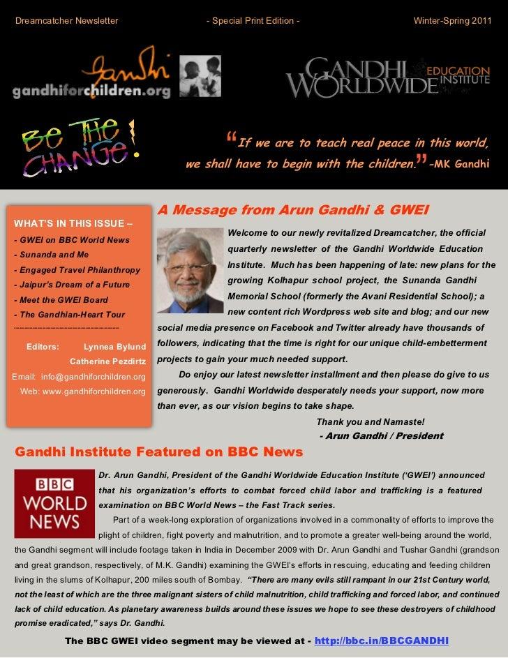Dreamcatcher Newsletter                                                            - Special Print Edition -              ...