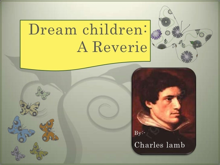 Dream children essay lamb