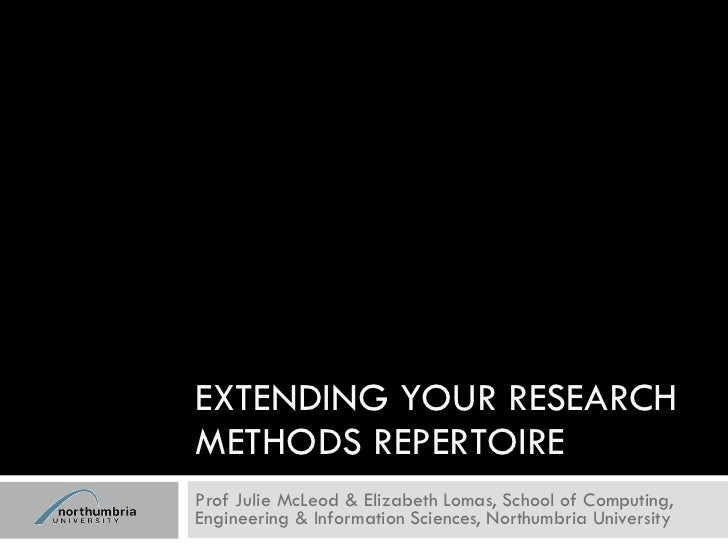 LIS DREaM 1 Breakout session 2: Extending your research methods repertoire