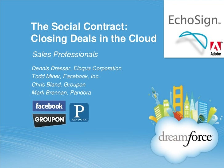 How Facebook, Groupon and Pandora use EchoSign E-Signature from Adobe