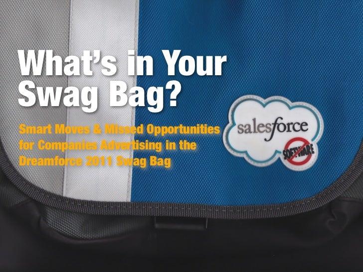 Dreamforce Swag Bag Analysis