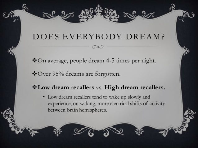 Dreams psychology research paper