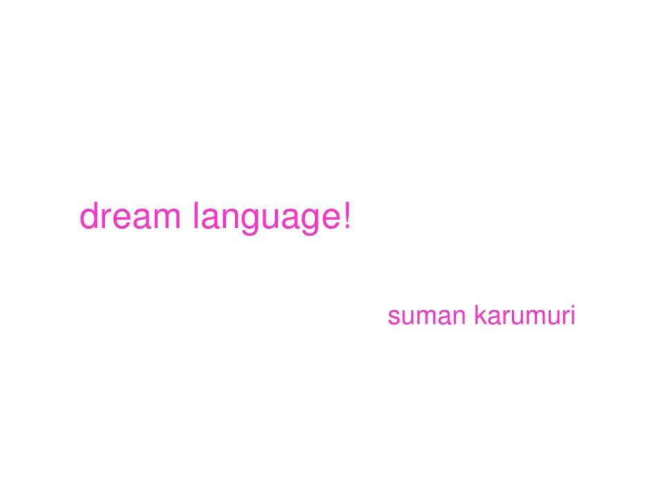 Dream Language!