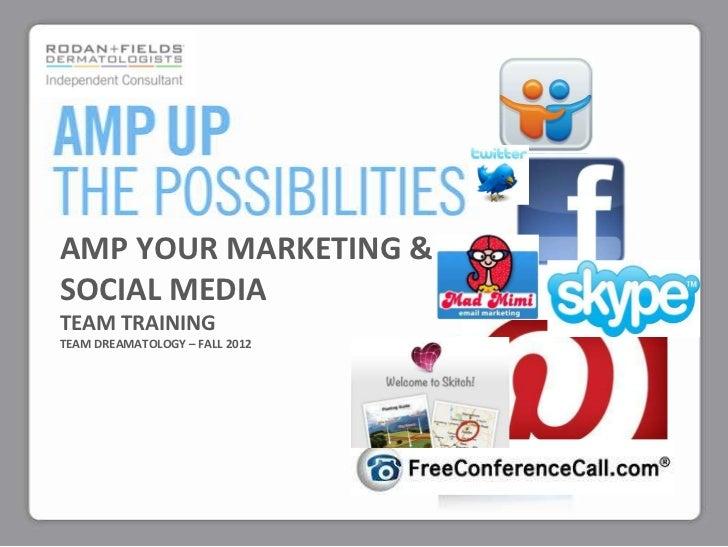 AMP YOUR MARKETING &SOCIAL MEDIATEAM TRAININGTEAM DREAMATOLOGY – FALL 2012