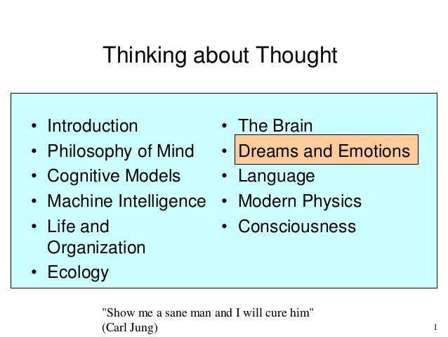 """Dreams and Emotions - Part 7 of Piero Scaruffi's class """"Thinking about Thought"""" at UC Berkeley (2014)"""