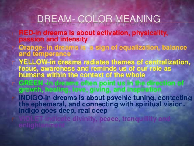 Red Color Meaning In Dream