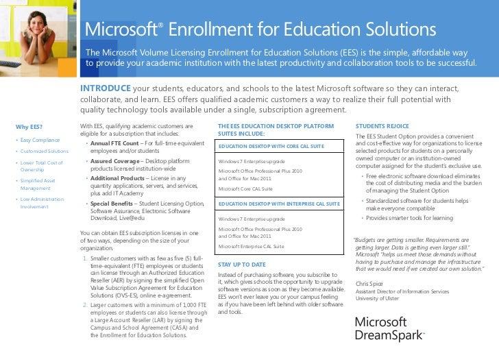 Microsoft Enrollment for Education Solutions                                                        ®                     ...