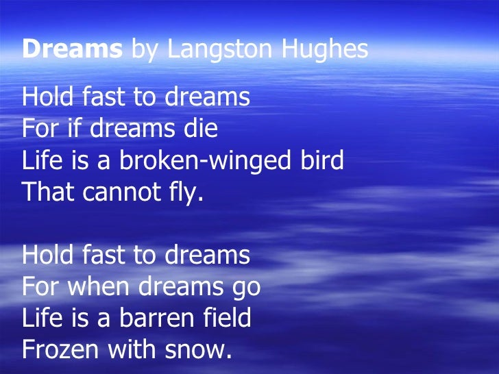 Dreams Poem Amp Rhyme Scheme
