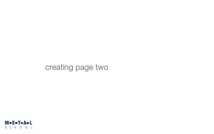 creating page two     M E T A L S C H   O   O   L