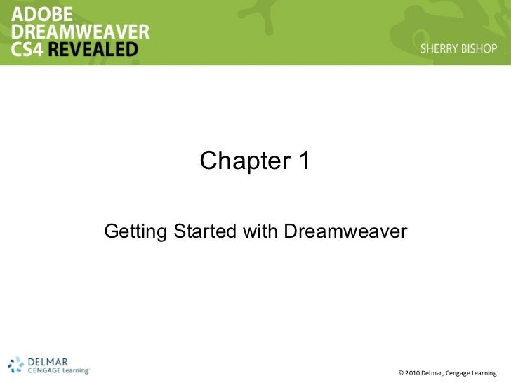 Chapter 1 Getting Started with Dreamweaver