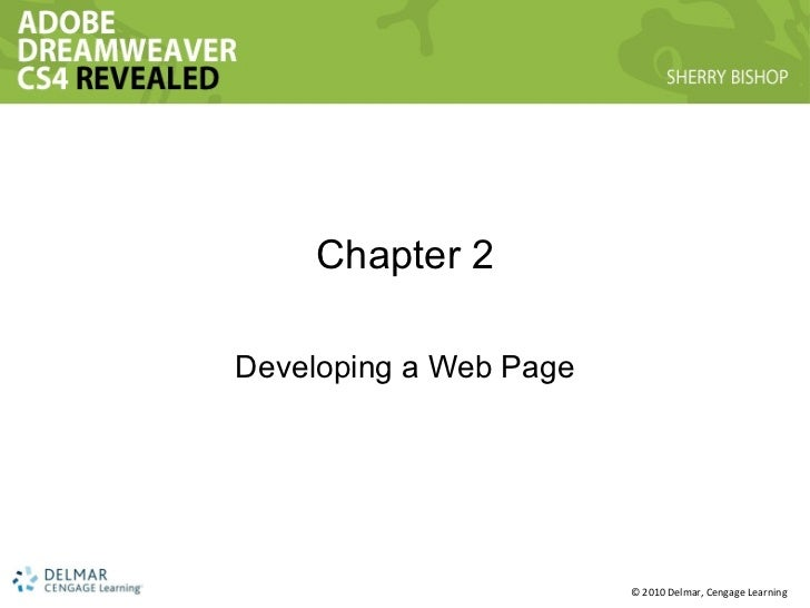 Chapter 2 Developing a Web Page