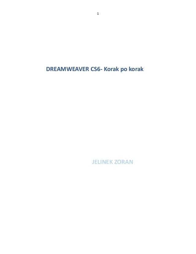 1  DREAMWEAVER CS6- Korak po korak  JELINEK ZORAN
