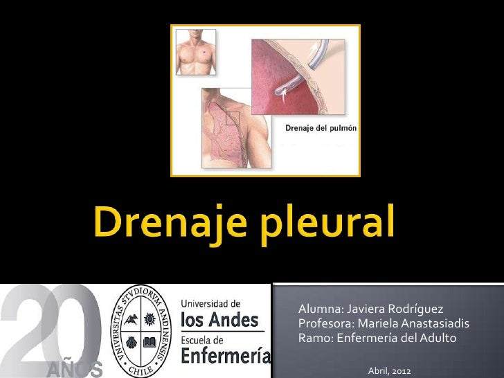 Alumna: Javiera RodríguezProfesora: Mariela AnastasiadisRamo: Enfermería del Adulto            Abril, 2012