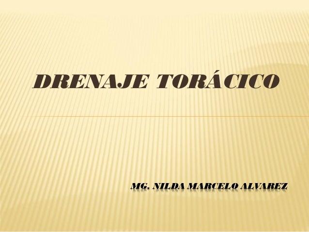 DRENAJE TORÁCICO
