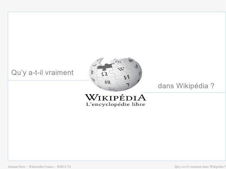 Qu'y a-t-il vraiment dans Wikipédia?
