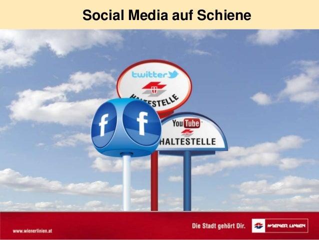 Social Media auf Schiene