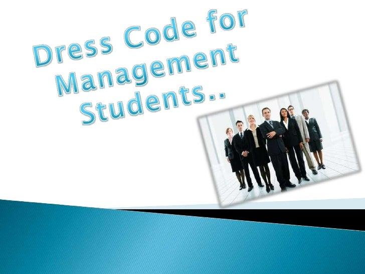 Dress Code Fo Management Students