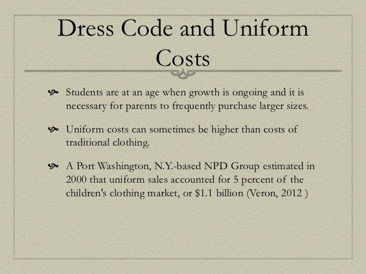 Strict dress code essay