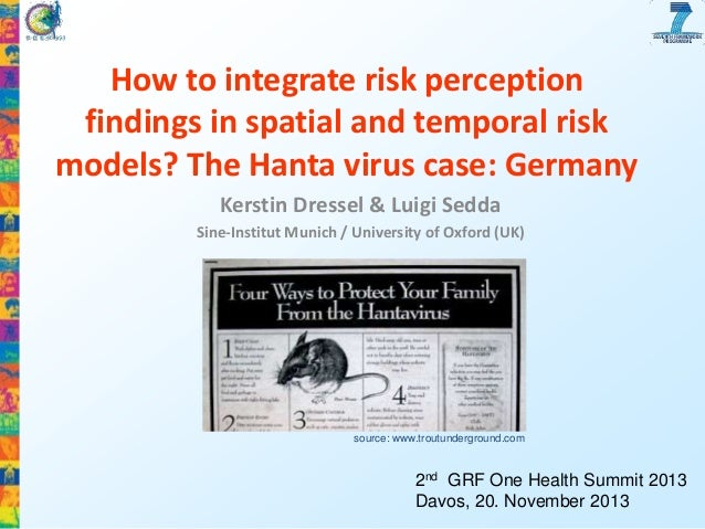 How to integrate risk perception findings in spatial and temporal risk models? The Hanta virus case: Germany Kerstin Dress...