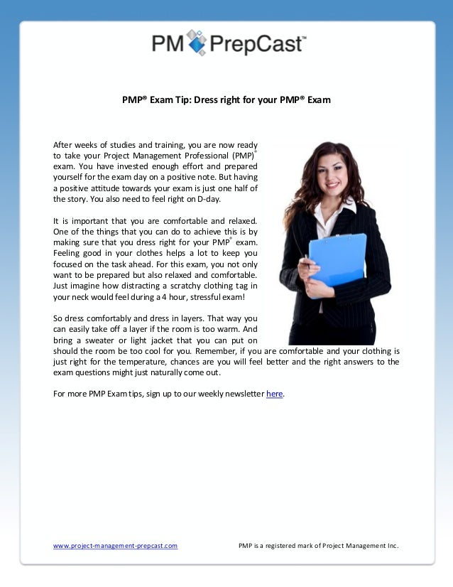 Dress Right for Your PMP Exam