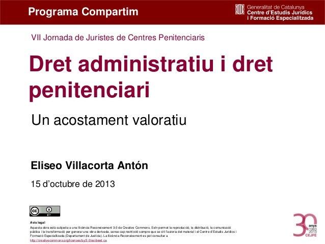 Dret administratiu i dret penitenciari. Eliseo Villacorta