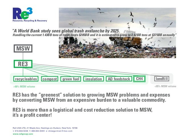 """""""A World Bank study sees global trash avalanche by 2025.Handling the current 1.43BB tons of trash costs $205BB and it is e..."""