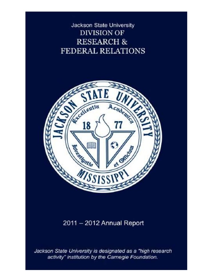JSU Division of Federal Relations Annual Report