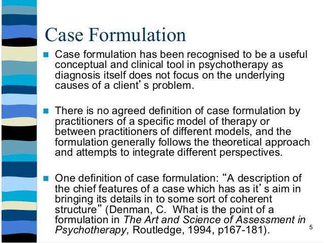 Dr funke 39 s formulation workshop implementing theory into for Case formulation template
